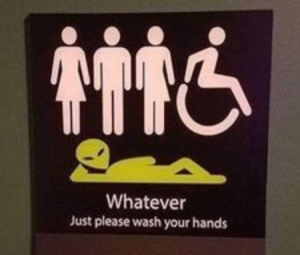 whatever, sign for genderless toilet/restroom